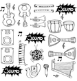 Object hand draw music doodles vector image