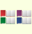 open and closed books on white background vector image