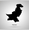pakistan country map simple black silhouette vector image vector image