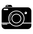 photo camera icon simple style vector image