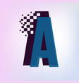 pixel motion alphabet design initial letter vector image