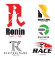 r letter based theme logo set volume 1