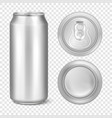 realistic 3d empty glossy metal silver vector image vector image
