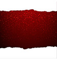 red glitter background vector image vector image