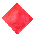 red on rectangle frame watercolor frame vector image