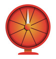red wheel fortune icon cartoon style vector image