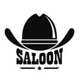 saloon logo simple style vector image