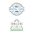 set car rental service elements can be used as vector image