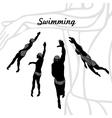 Set of Silhouettes of Swimmers vector image vector image