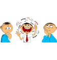 shy talkative and pessimistic vector image vector image