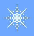 snowflake crystal geometry symbol vector image vector image