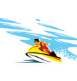 speed at sea brave rider on an aquabike vector image vector image