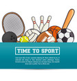 sports equipment flat icons vector image vector image