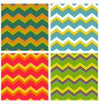 tile pattern set with zig zag background vector image vector image