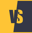 versus letters fight and match element vector image vector image