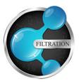 water drop in silver circle filtering symbol vector image vector image