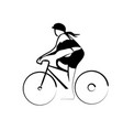 woman cycling vector image vector image