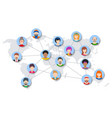 world people network diagram vector image vector image
