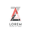 za modern logo design with gray and pink color vector image vector image