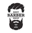 barber shop isolated vintage label badge emblem vector image