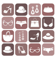 fashion items icon set vector image