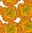 Abstract Elegance Seamless pattern orange flowers vector image vector image