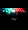 abstract glowing colorful bokeh lights banner vector image vector image