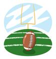 american football on field vector image