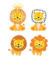 baby lion animal cartoon characters vector image vector image