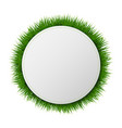 banner ball with grass white background vector image vector image