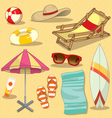 Beach set vector image