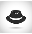 black hat icon vector image vector image