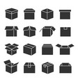 box silhouette set vector image