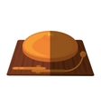 boxing bell isolated icon vector image