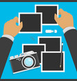 camera and photos in flat style vector image vector image