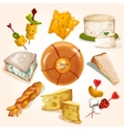 Cheese sketch collection vector image vector image