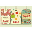 Christmas and New Year Sale Tags vector image vector image
