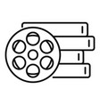 cinema reel icon outline style vector image vector image
