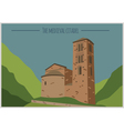 City buildings graphic template Andorra la Vella vector image