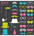 Colorful retro gentleman elements set vector image vector image