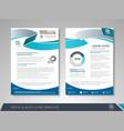 corporate identity template brochure vector image