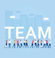corporate team work design vector image vector image