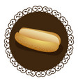 decorative frame with realistic picture bread for vector image vector image