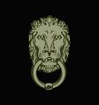 door ring in form a lions head vector image vector image