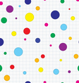 Dotted seamless background vector image vector image