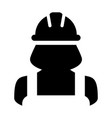 engineering icon female construction service vector image