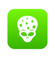extraterrestrial alien head icon digital green vector image