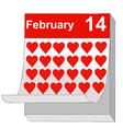 February 14 Valentines Day the day of love vector image vector image