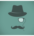 Funny vintage hipster trendy monocle poster vector image vector image