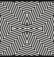 geometric lines seamless pattern black and white vector image